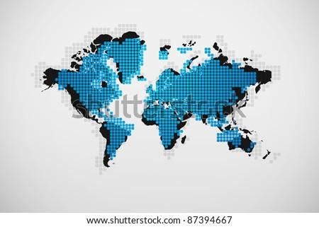 Modern business map - stock photo
