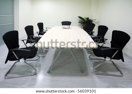 Modern business meeting rooms, tables and chairs