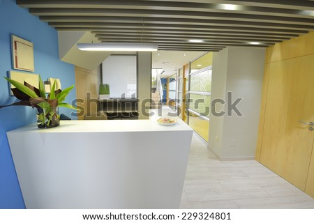 Modern business office reception - stock photo