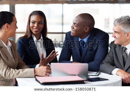 modern business partners having meeting  - stock photo