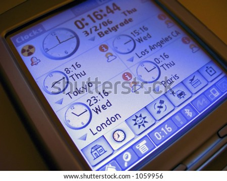 modern business planner device - stock photo