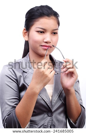 modern business women isolated on white background.