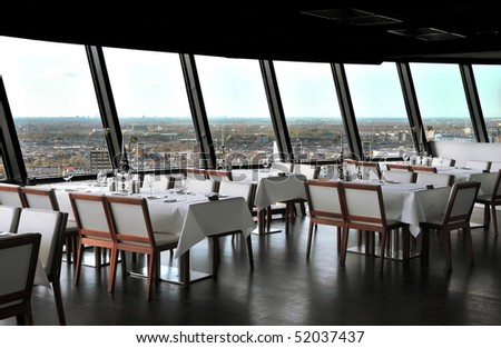Modern cafe interior - stock photo