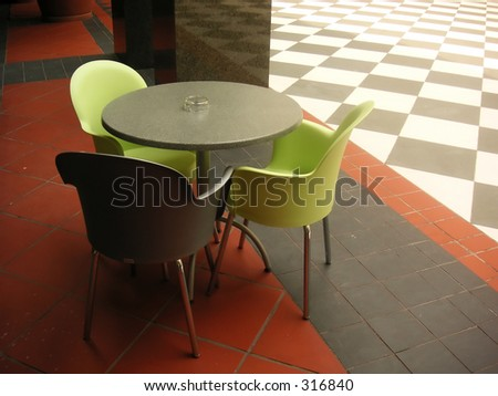 modern cafe colored plastic chairs stock photo 100 legal