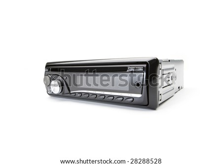 Modern car audio system - stock photo