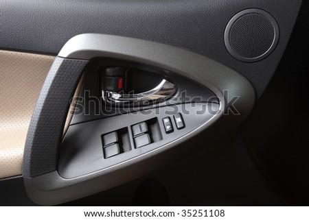 Modern Car Door Panel - stock photo