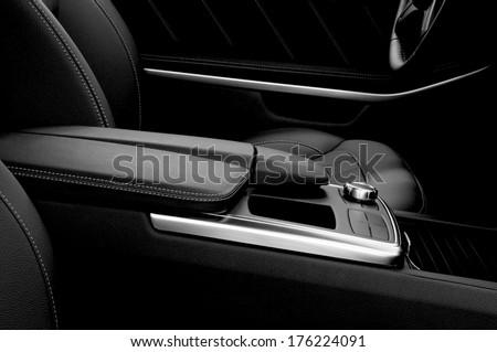 Modern car interior.  - stock photo