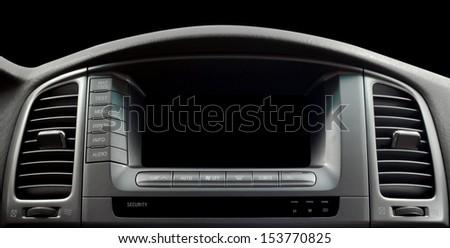 Modern car interior. Horizontal photo. - stock photo