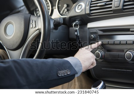 modern car interior trim - stock photo