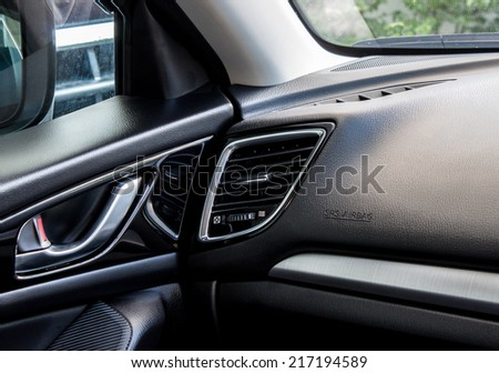 modern car's air conditioning vent  - stock photo