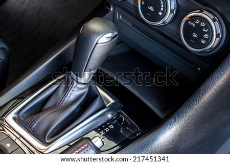 modern car's automatic gear shift - stock photo
