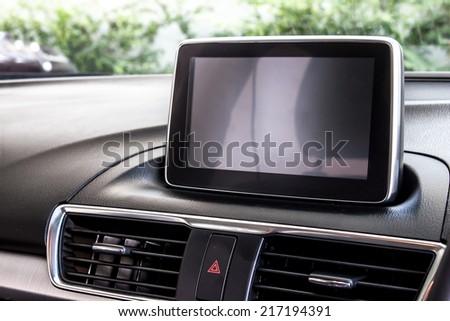 modern car's display screen - stock photo
