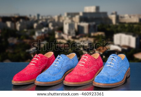 Modern casual men suede shoes