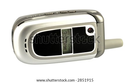 Modern cell phone on white background. - stock photo