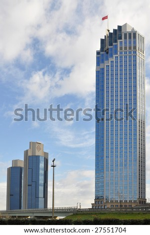 modern center of Istanbul,Turkey - stock photo