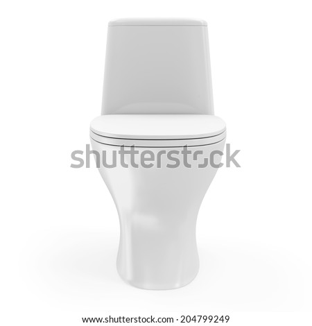 Modern Ceramic Toilet isolated on white background