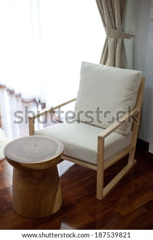 modern chair  - stock photo