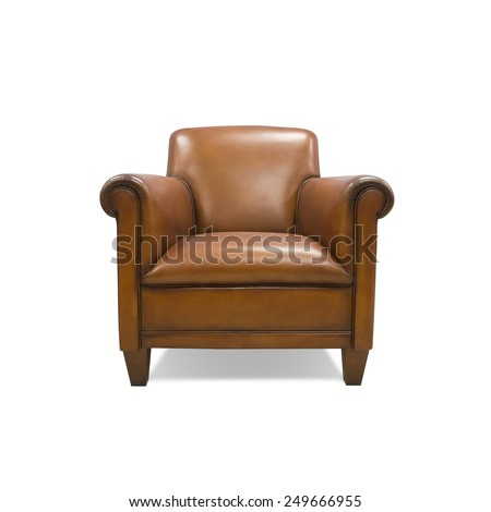 Modern Chair interior,isolated on white background, with clipping path - stock photo