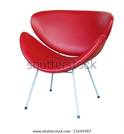 Modern Chair isolated with clipping path - stock photo