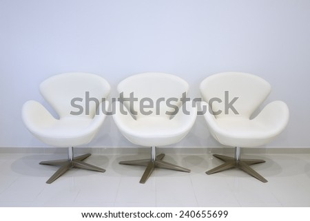 modern chairs in the waiting room - stock photo