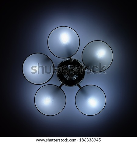 modern  chandelier  - stock photo