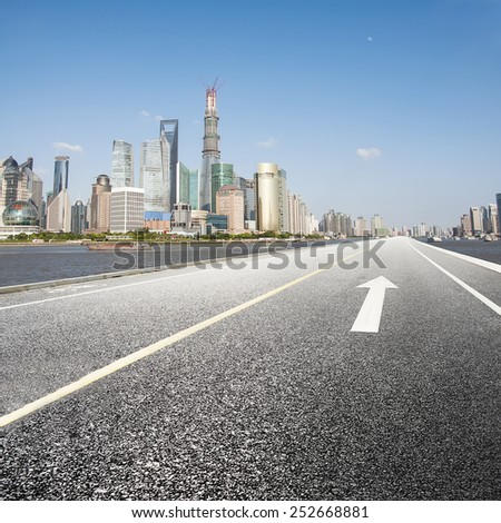Modern cities and roads - stock photo