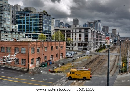 Modern city - stock photo