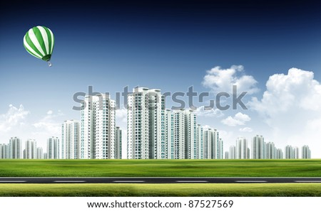 modern city background - stock photo