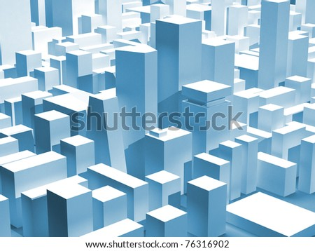 Modern city district - stock photo