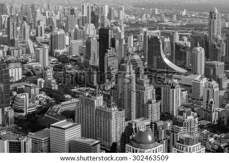Modern city in Bangkong - stock photo