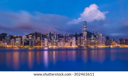 Modern city in Hongkong - stock photo