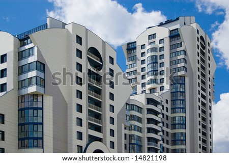 Modern city multistory house (recent development) - stock photo