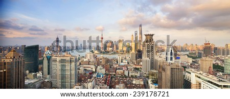 modern cityscape and traffics during daytime - stock photo