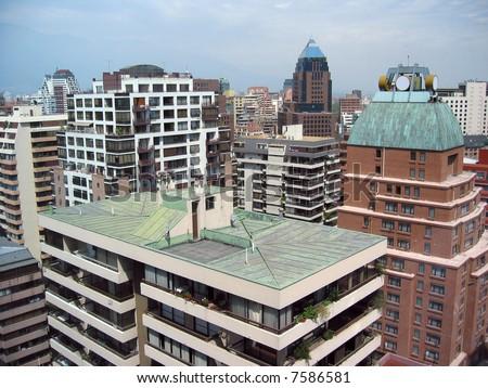 Modern cityscape of Santiago de Chile - stock photo