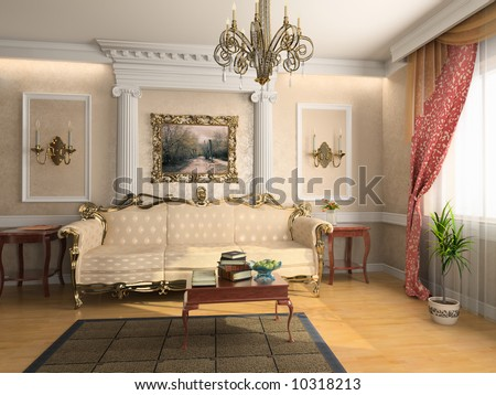 modern classic interior design private apartment 3d rendering - D Classic Interior Design