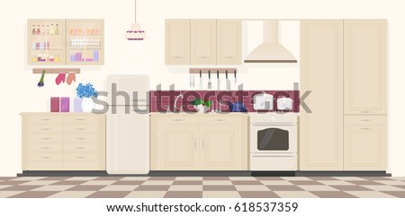 Cartoon Kitchen Bar Stock Images Royalty Free Images Vectors