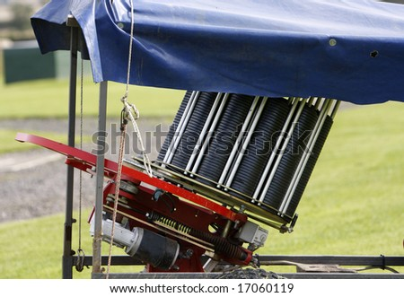 Modern Clay pigeon trap - stock photo