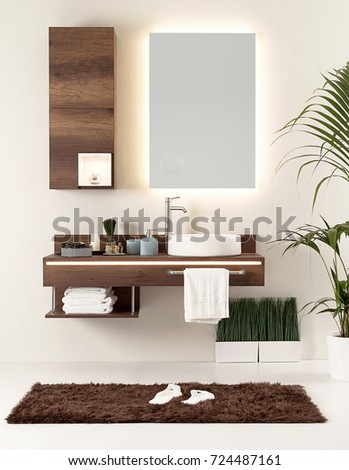 modern clean bathroom style and interior decorative design, for home, hotel  and office