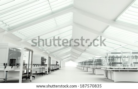 Modern clean research laboratory - stock photo