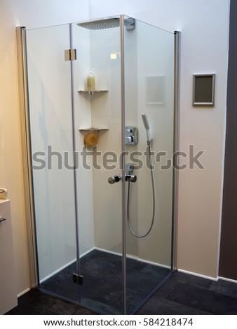 Modern Clean Trendy Design Fancy Shower Stock Photo & Image (Royalty ...