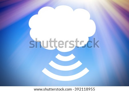Modern cloud storage - stock photo