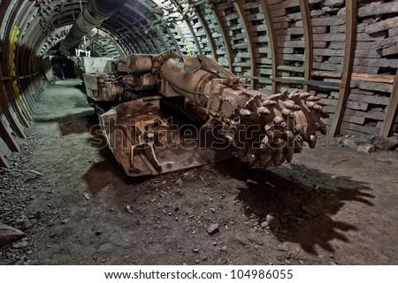 Modern coal mine - stock photo