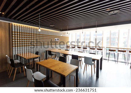 modern coffee bar interior  - stock photo