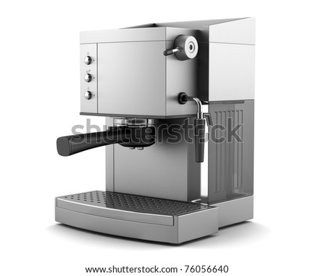 modern coffee machine isolated on white background with clipping path - stock photo