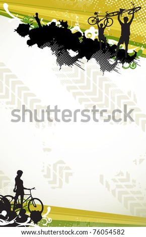 Modern color cycling background (poster, mail, web) - stock photo