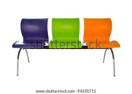 Modern colorful seats. - stock photo