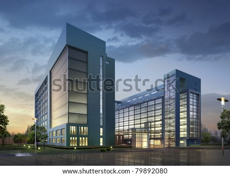 Modern commercial building stock illustration 79892080 for Contemporary commercial buildings