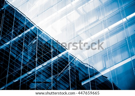 Modern Commercial Building in Blue Tone