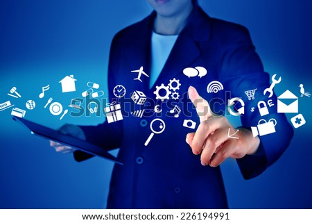 Modern communication technology concept - stock photo