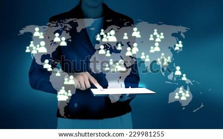 Modern communication technology concept - stock photo